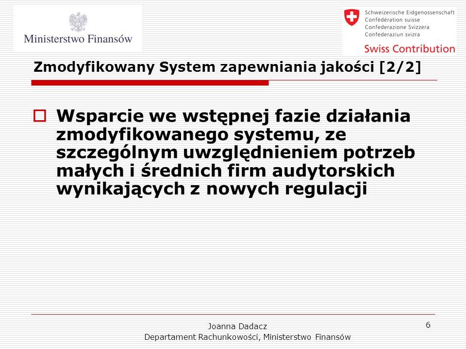 Zmodyfikowany System zapewniania jakości [2/2]